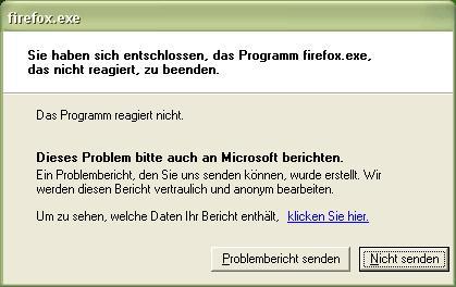 Firefox-Absturz